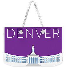 Denver City And County Bldg/purple Weekender Tote Bag