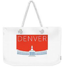 Denver City And County Bldg/orange Weekender Tote Bag