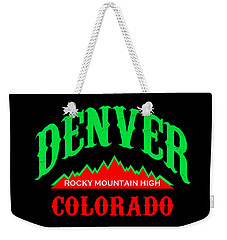 Denver Colorado Rocky Mountain Design Weekender Tote Bag