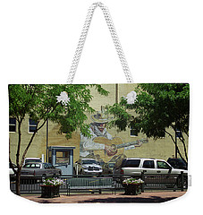 Weekender Tote Bag featuring the photograph Denver Cowboy Parking by Frank Romeo