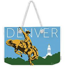 Denver Cowboy/sky Blue Weekender Tote Bag
