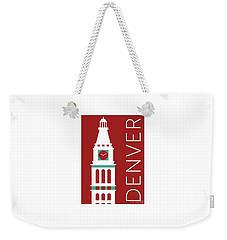 Denver D And F Tower/maroon Weekender Tote Bag