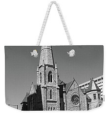 Denver Downtown Church Bw Weekender Tote Bag by Frank Romeo