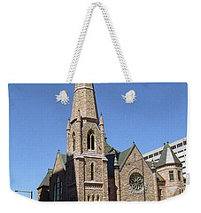 Weekender Tote Bag featuring the photograph Denver Downtown Church by Frank Romeo