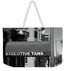 Denver Downtown Storefront Bw Weekender Tote Bag by Frank Romeo