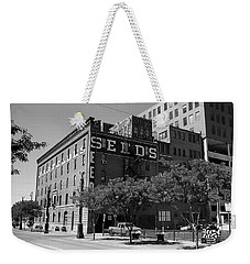 Denver Downtown Warehouse Bw Weekender Tote Bag by Frank Romeo