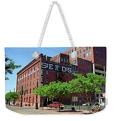 Weekender Tote Bag featuring the photograph Denver Downtown Warehouse by Frank Romeo