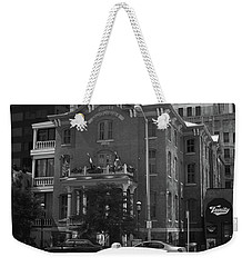 Denver Downtown With Yellow Cab Bw Weekender Tote Bag by Frank Romeo