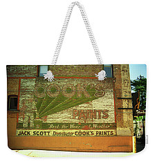 Weekender Tote Bag featuring the photograph Denver Ghost Mural by Frank Romeo
