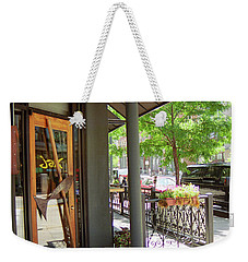 Weekender Tote Bag featuring the photograph Denver Happy Hour by Frank Romeo