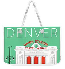 Denver Union Station/aqua Weekender Tote Bag