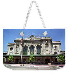 Weekender Tote Bag featuring the photograph Denver - Union Station Film by Frank Romeo