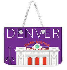 Denver Union Station/purple Weekender Tote Bag