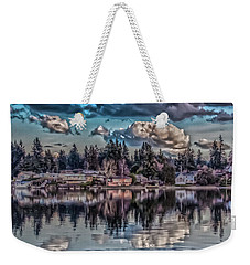 Weekender Tote Bag featuring the digital art Depot 8 by Timothy Latta