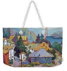 Depot By The River Weekender Tote Bag