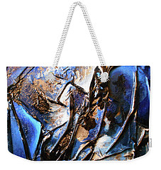 Weekender Tote Bag featuring the mixed media Depth by Angela Stout