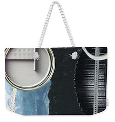 Weekender Tote Bag featuring the painting Depth Onto Space by Michal Mitak Mahgerefteh