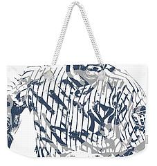 Derek Jeter New York Yankees Pixel Art 12 Weekender Tote Bag