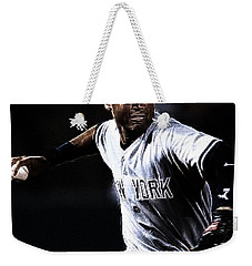 Derek Jeter Weekender Tote Bag by Paul Ward