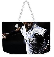 Derek Jeter Weekender Tote Bag by Paul Ward