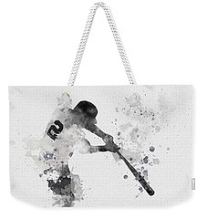 Derek Jeter Weekender Tote Bag by Rebecca Jenkins