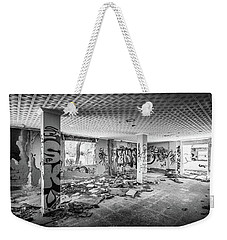 Weekender Tote Bag featuring the photograph Derelict Room. by Gary Gillette