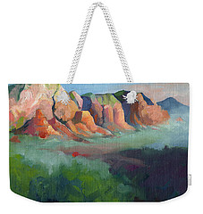 Desert Afternoon Mountains Sky And Trees Weekender Tote Bag