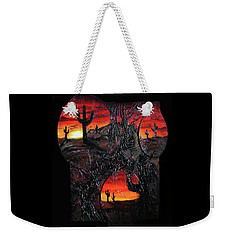 Weekender Tote Bag featuring the mixed media Desert by Angela Stout