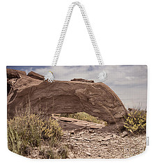 Weekender Tote Bag featuring the photograph Desert Badlands by Melany Sarafis