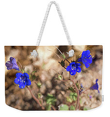 Desert Blue Bells At Joshua Tree National Park Weekender Tote Bag