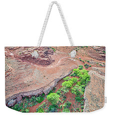 desert canyon in Utah aerial view Weekender Tote Bag