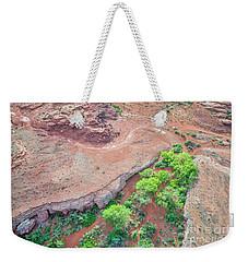 desert canyon in Utah aerial view Weekender Tote Bag