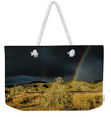 Desert Double Rainbow Weekender Tote Bag
