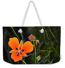 Weekender Tote Bag featuring the photograph Desert Flower 3 by Penny Lisowski
