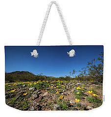 Weekender Tote Bag featuring the photograph Desert Flowers In Spring by Ed Cilley