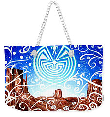 Weekender Tote Bag featuring the painting Desert Hallucinogens by Michelle Dallocchio