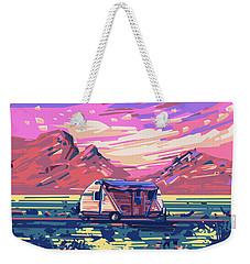 Desert Landscape Weekender Tote Bag by Bekim Art