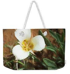 Desert Mariposa Lily Weekender Tote Bag by Penny Lisowski