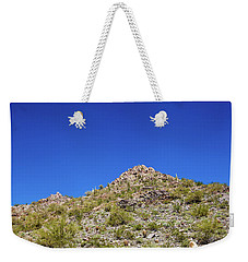 Weekender Tote Bag featuring the photograph Desert Mountaintop by Ed Cilley