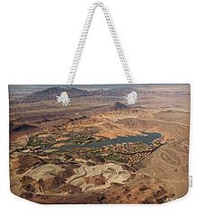 Desert Oasis Near Las Vegas Weekender Tote Bag by Kathy M Krause