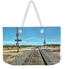 Desert Railway Crossing Weekender Tote Bag