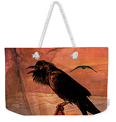 Desert Raven Weekender Tote Bag by Mary Hone