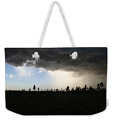 Weekender Tote Bag featuring the photograph Desert Storm Near Uluru In The Northern Territory by Keiran Lusk