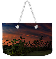 Weekender Tote Bag featuring the photograph Desert Sunset by Chris Tarpening