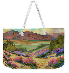 Desert Verbena At Borrego Springs Weekender Tote Bag by Diane McClary