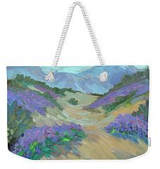 Weekender Tote Bag featuring the painting Desert Verbena by Diane McClary