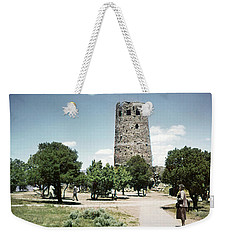 Weekender Tote Bag featuring the photograph 1950 Desert View Watchtower Colter by Marilyn Hunt