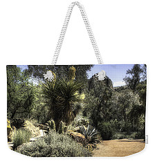 Weekender Tote Bag featuring the photograph Desert Walkway by Lynn Geoffroy