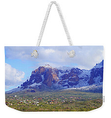 Desert Winter Weekender Tote Bag