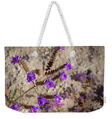 Desert Zig Zag Purple Flower Weekender Tote Bag